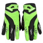 Knighthood YJ005 Polyester + Spandex Fabric Full-Finger Gloves - Green + Black (Pair / Size XL)