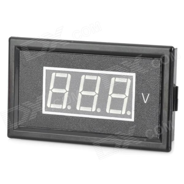 V85A 0.56 LED Two Line 3-Digital AC Voltmeter w/ Fine Adjustment - Black (AC 75~300V) yb27a led ac 60 300v digital voltmeter home use voltage display w 2 wires