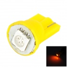 LGFOX T10 0.5W 10lm SMD 5050 LED Yellow Light Car Bulb - Yellow