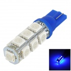 LGFOX T10 0.5W 180lm 13-SMD 5050 LED Blue Light Car Bulb - Blue