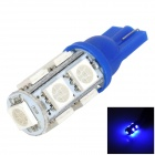 LGFOX T10 0.5W 90lm 9-SMD 5050 LED Blue Light Car Bulb - Blue