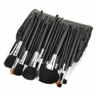 NH-32 Professional 32-in-1 Animal Hair Cosmetic Makeup Brush w/ PU Bag - Black