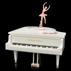 CF-324AL Classical Piano Music Box MP3 Player w / Ballet Dancer - White (2 x AA / 2 x Größe C)