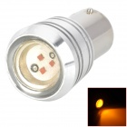 YT1156880 1156 3W 150~200lm 560~590nm 1-SMD LED Yellow Light Car Lamp / Turn Signals - Silver