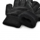 Capacitive Screen Touching Hand Warmer Imitative Cashmere Gloves for Iphone / Ipad - Black (Pair)