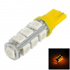 LGFOX T10 0.5W 180lm 13-SMD 5050 LED Yellow Light Car Bulb - Yellow