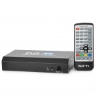 T288A HD MPEG-4 DVB-T2 Digital Car TV Receiver w/ Remote Controller - Black