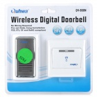 Quhwa QH-968N Wireless Digital Doorbell - White + Deep Grey (EU Plug / 110V~220V)