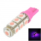 LGFOX T10 0.5W 180lm 13-SMD 5050 LED Pink Light Car Bulb - Pink