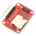OJ-XM1127 TF Card Read and Write Module - Red + Silver (Max. 8GB)
