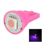 T10 0.5W 10lm 1-SMD 5050 LED Pink Light Car Instrument Light / License Plate Light (12V)