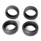 AUSTAR AX-6001 1:10 On-Road Flat Run / Touring Car Rubber Tire Tyres - Black (4 PCS)