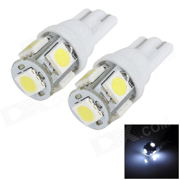 цена на T10 1W 100LM 5-SMD 5050 LED White Light Car Instrument Lamp / Clearance Light / Reading Light