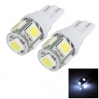 T10 1W 100LM 5-SMD 5050 LED White Light Car Instrument Lamp / Clearance Light / Reading Light