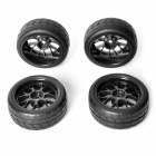 AUSTAR AX-6003 1:10 Electric / Oil On-Road Flat Run Car / Truck Rubber Tires - Black (4 PCS)