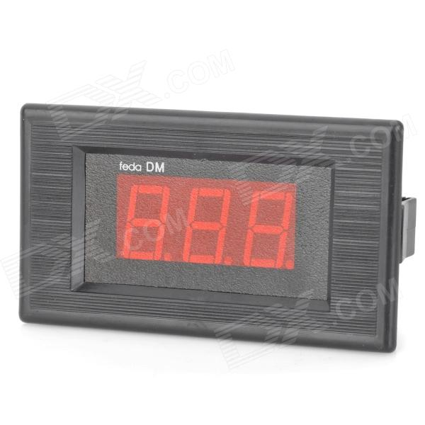 "V75D 0.56"" LED 3-Digital DC Voltmeter w/ Fine Adjustment - Black (DC 0~100V)"