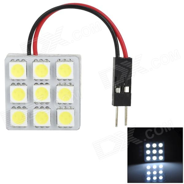 Point Purple 5050-9 T10 / BA9S / Festoon 1.6W 135lm 9-SMD 5050 LED White Car Reading Lamp