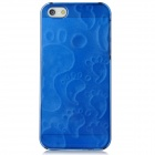 BASEUS FAAPIPH5-03 3D Plastic Back Case w/ Screen Protector for Iphone 5 - Translucent Blue