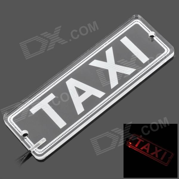 SYD-011 TAXI Car LED Board w/ Suction Cups - Transparent + White