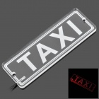 "SYD-011 ""TAXI"" Car LED Board w/ Suction Cups - Transparent + White"