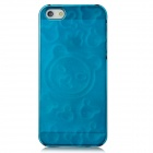 BASEUS FAAPIPH5-CY 3D Plastic Back Case w/ Screen Protector for Iphone 5 - Translucent Green