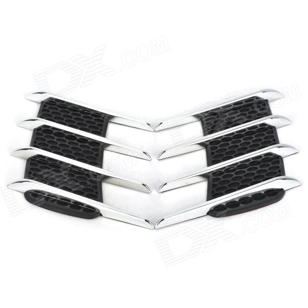 Car Vent Style ABS Electroplating Stickers Set - Silver + Black abs chrome door body side molding trim cover for nissan x trail x trial xtrail t32 2014 2015 2016 2017 car styling accessories