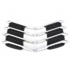 Car Vent Style ABS Electroplating Stickers Set - Silver + Black