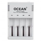 OCEAN XXC-888 Smart 4-Slot AC Battery Charger for 10440 / 14500 / 14650 / 17670 / 18650 / 18700