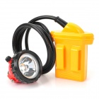TongDe TDE-001 1W 130lm 6500K LED Cool White Light Headlamp / Miner Light - Yellow + Black + Red