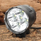 RUSTU D75 5 x Cree XM-L T6 3460lm 3-Mode Cool White Light Bicycle Headlamp - Black (6 x 18650)