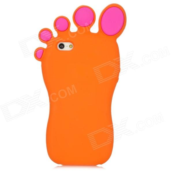 Big Foot Style Protective Silicone Back Case for Iphone 5 - Orange cool skull head style protective soft silicone back case for iphone 4 4s pink