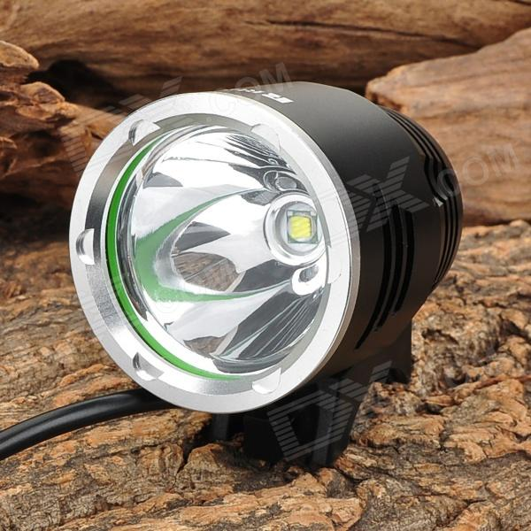 RUSTU D6B Cree XM-L T6 692lm 3-Mode Cool White Light Bicycle Headlamp - Black (4 x 18650)