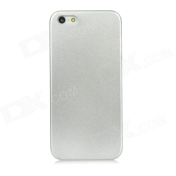 Protective Aluminum Alloy Back Case for Iphone 5 - Silver protective brushed aluminum alloy back case for iphone 6 silver