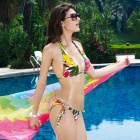 New Arrived Sexy Beach Bikini Swimsuit - Yellow + Green + White