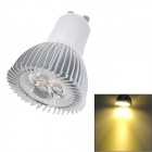 GU10 3W 90~100Lm 3000~3500K Warm White Light LED Spot Bulb - Silver (85-265V)