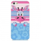 Cute Giraffe Pattern PC Back Case for Iphone 5 - Blue + Pink