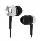 ChenGuang ADG97903 Wired Low Strong Stereo In-Ear 3.5mm Plug Earphones - Black + Silver (120cm)
