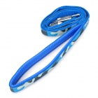 Pet Dog PP + Foam Harness Leash + Collar Belt Strap - Blue + Silver