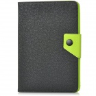 Protective PU + TPU Case for Ipad MINI w/ Stand - Black + Green