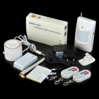 Patrol Hawk G12 Industry Household GSM Anti-Theft Intelligent Alarm System - White