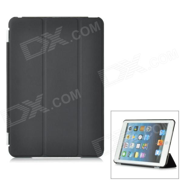 Ultra-Slim Protective Dual-Side Matte Plastic Back Case + Front Cover for iPad Mini - Black