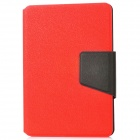 Protective PU Flip-Open Case w/ Sleep + Card Slot for Ipad MINI - Red + Black