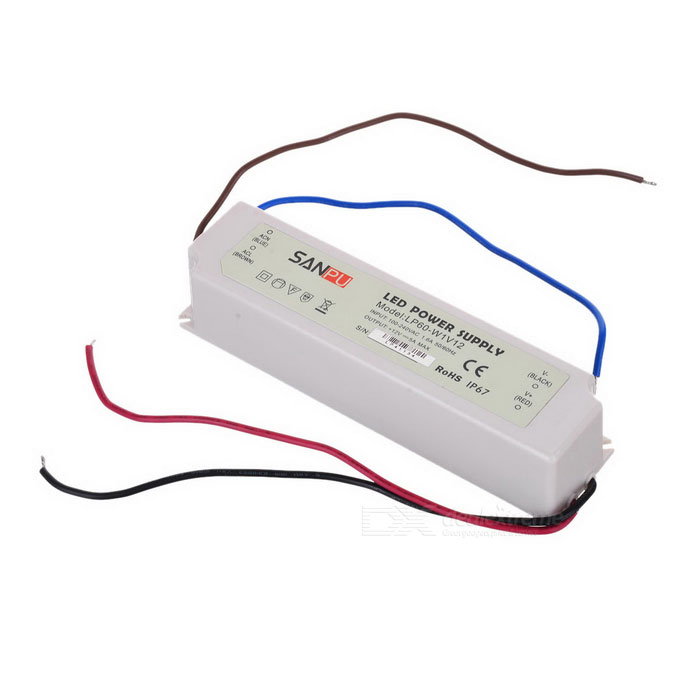 SPD10610 Water Resistance 60W External LED Power Supply - White (100~240V) good working original used for power supply board led 42v800 le 42tg2000 le 32b90 vp168ug02 gp power board