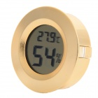 Household Electronic Thermometer / Hygrometer - Golden