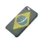 Flag of Brazil Pattern Plastic Back Case for Iphone 5 - Green + Yellow