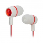 SONGQU SQ-05MP Stylish In-Ear Stereo Earphone - Red + White (3.5MM Plug)