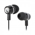 SONGQU SQ-05MP Stylish In-Ear Stereo Earphone - Black + Silver + White (3.5MM Plug)