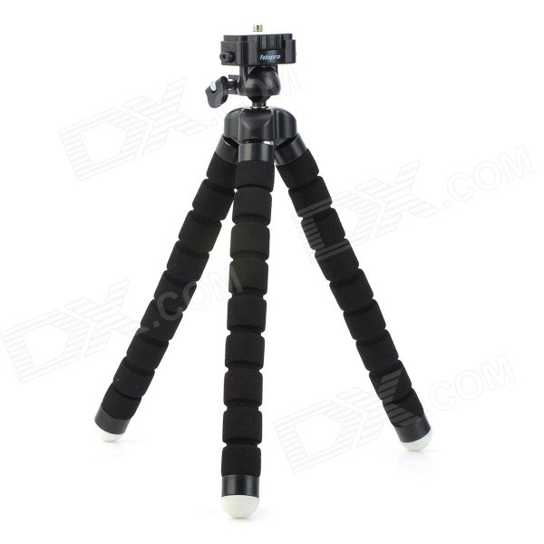 Fotopro RM-100 Octopus Style Flexible Mini Tripod w/ Head for Digital Camera - Black