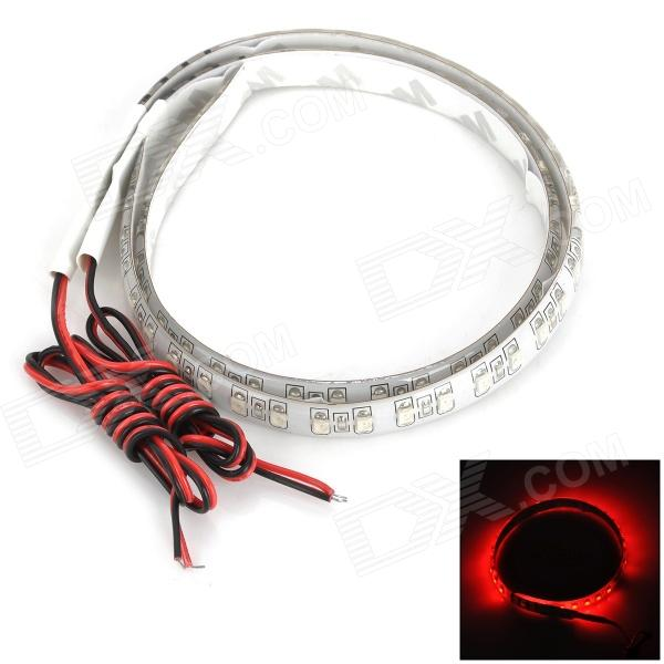 DTYX32R Waterproof 3W 330lm 32-SMD 3528 LED Red Car Decoration Soft Light Strip (12V / 30cm / 2 PCS) free shipping hot selling 1m length super slim 12mm wide pcb led strip aluminum channel housing item for led strips
