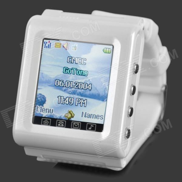 AOKE912 1.44 Touch Screen Single GSM Watch Phone w/ Camera / FM / Bluetooth / MP3 / SOS - White